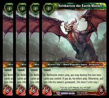 4x Neltharion the Earth-Warder War of Ancients Epic 192 World Warcraft WoW TCG