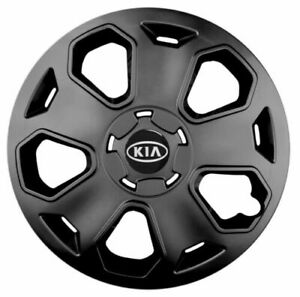 15'' Wheel trims hub caps fit KIA black  4x15'' NEW