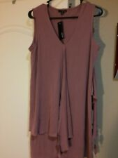 DREW  WOMENS PULLOVER TOP--SIZE M--MAUVE--MSRP $179--LONG TUNIC--FREE SHIP--NEW
