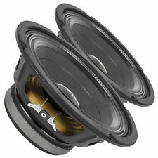"Pair PRV Audio 8MB450-4 8"" Midbass Woofer 4 ohms 450 Watts 96 dB 2"" Voice Coil"