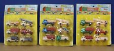 Lot of 3 Carded Plastic Construction Sets (6 trucks) NOS Sealed 60s Hong Kong