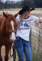 Original Cowgirl Clothing State Prison Women's Rodeo Team Tee Bad Girls Shirt