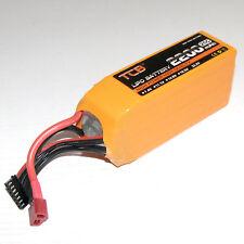 22.2V 6S 2200mAh 25C /55A LiPO Battery T plug Burst 40C RC model Lipolymer pack