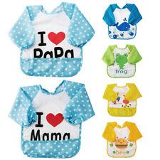 Cotton Baby Bibs Burp Cloths With Sleeves Ebay