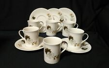Royal Doulton WESTWOOD Demi Tasse Expresso 6 cups 5 saucers