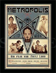 8.5x11 Vintage METROPOLIS Fine Art Deco Print Picture Poster Women Robot Sci Fi