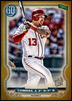 Asdrubal Cabrera 2020 Topps Gypsy Queen 5x7 Gold #18 /10 Nationals