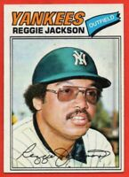 1977 Topps #10 Reggie Jackson EX-EXMINT WRINKLE HOF New York Yankees FREE SHIP