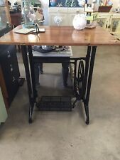 Singer Treadle Base Hall Table Recycled Floorboards