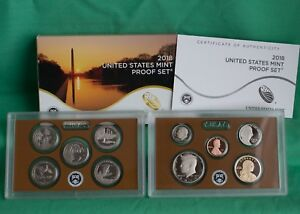 2018 S United States Mint ANNUAL 10 Coin Proof Set Original Box and COA Complete