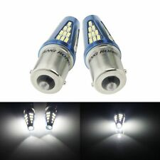 2x P21W BA15S LED Ampoules 48 SMD Blanc 6000k Feux de Jour et Recul Arrière 12v