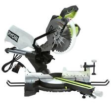 Ryobi 15-Amp 10 in. Sliding Miter Saw with Laser 	Bench Single Green Corded New