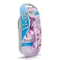 Gillette Venus Breeze Razor Handle with 1 Pre-loaded Cartridge, Women's Shaving