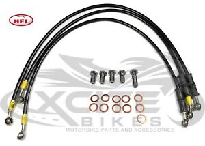 HEL Performance full set braided brake lines CBR250RR MC22 lifetime warranty