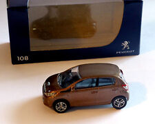 Peugeot 108, marrón metalizado, NOREV, 1:64