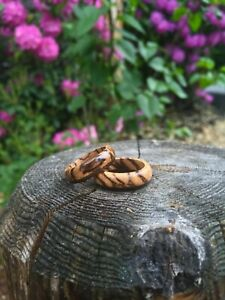 Handmade Zebrawood & Walnut Wood Ring | Men's Ring | Women's Ring Size 6 - 11