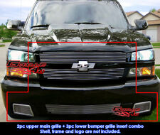 Fits Chevy Silverado 1500 SS Billet Grill Combo 2003-2005