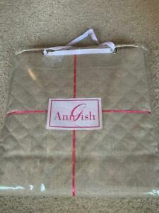 LAST ONE! $1,250! NWT Ann Gish Quarry Diamond Quilted Moonstone KING Coverlet