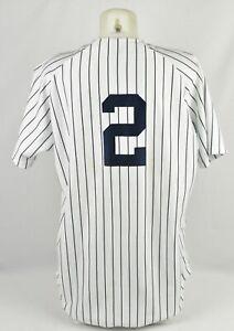 1998 Derek Jeter Game Worn Used New York Yankees Home Jersey Pinstripes LOA