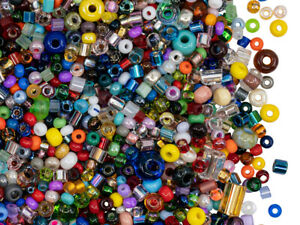 40 g Mix all Preciosa Beads , Different Shapes and Sizes, Czech Glass (MIX026)