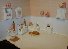 Miniature Dollhouse Coral And Gold Bath Collection-Ooak
