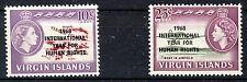 BRITISH VIRGIN ISLANDS 1968 HUMAN RIGHTS BLOCKS OF 4 MNH