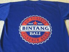 BINTANG BEER BIR PILSENER BALI INDONESIA LOGO T-SHIRT-XL RARE SHORT SLEEVE BLUE