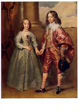 Prince William II of Orange and wife Mary Stuart vintage postcard unposted