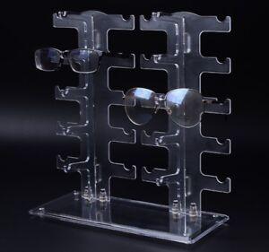 Eyeglass Sunglasses Storage Display Stand Holder Organizer Case for 10 Glasses