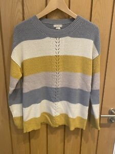 Fat Face Stripe Ladies Jumper Size 10 Hardly Worn!