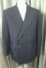 Gieves & Hawkes Vintage 70s Savile Row Black Double Breasted Blazer 42S