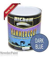 HICHEM MOTOSPRAY 1L DARK BLUE TRAILER AUTO ENAMEL PAINT METAL HAMMERCOAT