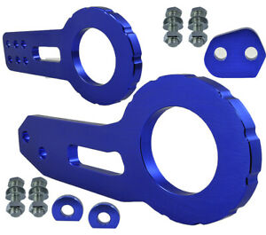 JDM Front Rear Anodized Billet CNC Aluminum Racing Towing Hook Tow Kit Blue H233