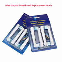8pcs Electric Toothbrush Replacement Heads For Oral B Braun Models Series SU