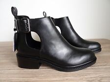 ZARA BLACK CUT OUT SIDES ANKLE BOOTS SIZE UK 6 EU 39