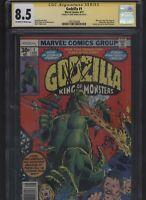 Godzilla #1 CGC 8.5 SS Herb Trimpe 1977 1st appearance Godzilla - Newsstand