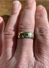 Antique 1880s, Heavy, Solid 18ct Rose Gold Mourning Ring Band. 5.71 Grams.