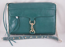 Rebecca Minkoff Mac Daddy Clutch in TEAL with Light Gold Hardware NWT