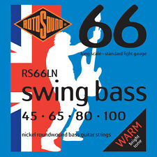 ROTOSOUND RS66LN SWING BASS NICKEL BASS STRINGS, LIGHT GAUGE 4's - 45-100