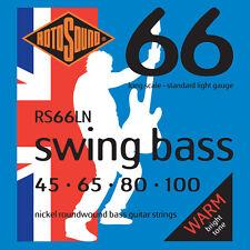 ROTOSOUND RS66LN SWING BASS NICKEL BASS STRINGS, LIGHT GAUGE 4's - 45-100
