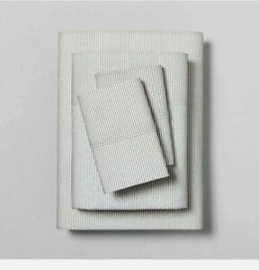 NEW Hearth & Hand with Magnolia Organic Microstripe California King Sheet Set
