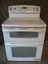 """GE Profile 30"""" Free-Standing Electric,Dual Oven, CeramicTop,5 burners,White"""