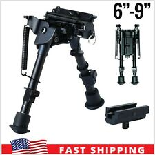 "Hunting Rifle Bipod 6"" to 9"" Adjustable Spring Sniper Sling Swivel Mount Part"