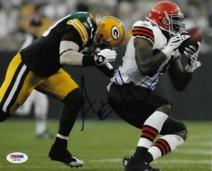 A.J. Hawk Autographed Signed 8x10 Photo PSA/DNA COA Green Bay Packers Y38796
