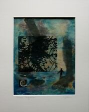"""CYNTHIA J. LEE """"Dream Sequence"""" Abstract Mixed Media Collage"""