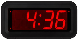 KWANWA LED Digital Alarm Clock Battery Operated Only Small for with Constantly