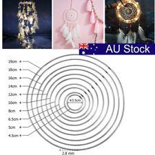 10Pcs Metal Dream Catcher Dreamcatcher Ring Macrame Craft Hoop Ardent AU STOCK