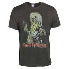 Amplified Mens Iron Maiden Killers Classic Vintage Rock T Shirt Charcoal NEW