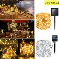 100-200LED Solar Fairy Lights String Lamps Party Wedding Decor Garden Outdoor 2Y