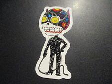 """CATWOMAN batman dc comics Art Sticker Print 2 X 4"""" DIA DE LOS muertos pulido"""